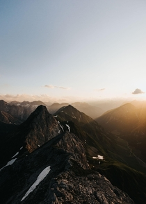Sunset in the Austrian Alps