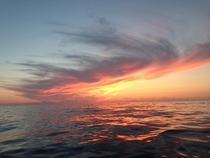 Sunset in the Bay of Biscay OC