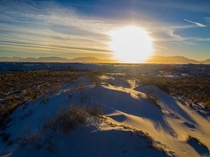 Sunset in the desert White Sands New Mexico