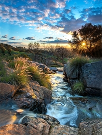 Sunset in the hills of Perth Western Australia OC x