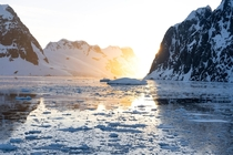 Sunset in the Lemaire Channel Antarctica