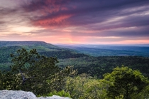 Sunset in the Ouachita Mountains Ark