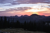 Sunset in the Uinta Mountains Utah OC x