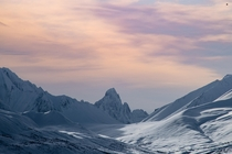 Sunset in Tombstone Territorial Park Yukon Canada