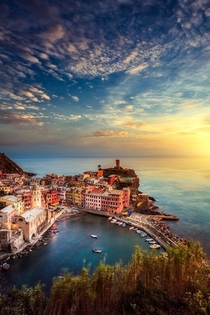 Sunset in Vernazza Italy