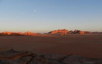 Sunset in Wadi Rum Jordan where The Martian and other Sci-Fi movies were filmed