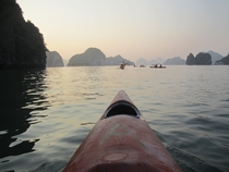 Sunset Kayak Ha Long Bay Vietnam