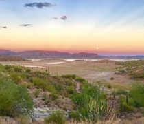 Sunset Moonrise - Lake Pleasant Arizona