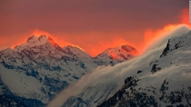 Sunset near St Moritz Switzerland by Arnd Wegmann