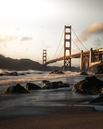 Sunset of the Golden Gate Bridge from Marshalls Beach in San Francisco For more check out my Instagram mvttmic