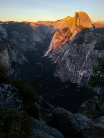 Sunset on Half Dome from Glacier Point Yosemite National Park