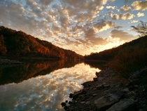 Sunset on Indian Creek in East Tennessee