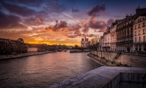 Sunset on Notre Dame France  photo by Ramelli Serge