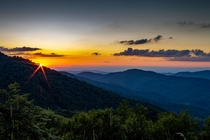 Sunset on Roan Mountain Tennessee