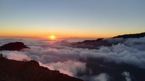 Sunset on the Crater of La Palma