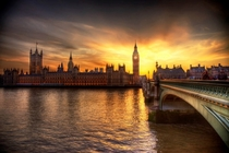 Sunset on the Houses of Parliament
