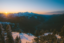 Sunset on the Last Day of November Mount Baker Wilderness WA