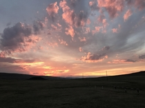 Sunset on the Mongolian vastlands In the middle of nowhere x