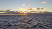 Sunset on the pacific off chile