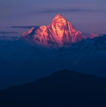 Sunset on the rd tallest mountain in the world Nanda Devi  ft
