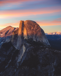 Sunset on top of Glacier Point Yosemite CA  IG grantplace