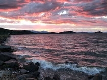 Sunset on Upper Klamath Lake  June
