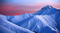 Sunset over a Snowy Mountain Australia