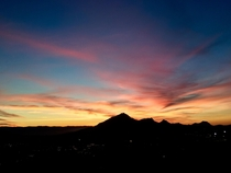 Sunset over Bishops Peak San Luis Obispo CA