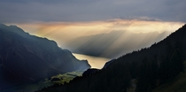 Sunset over Brienzersee Switzerland