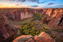 Sunset over Canyon de Chelly Arizona  Photographed by Michael Wilson