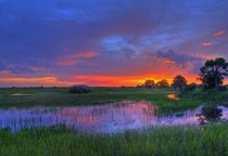 Sunset over Everglades National Park Florida