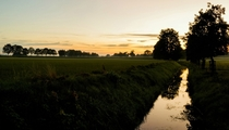 Sunset over fields Germany  x