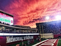 Sunset over football stadium