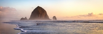 Sunset over Haystack Rock Cannon Beach OR