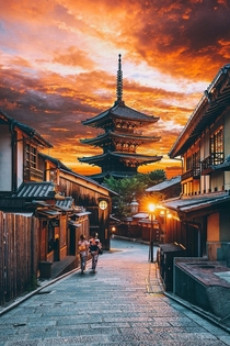 Sunset over Kyoto Japan  Photo by Jacob Riglin