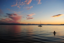 Sunset Over Lake Champlain VT x