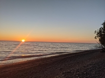 Sunset over Lake Huron Canada