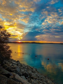 Sunset over Lake Travis in Austin Texas