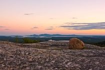Sunset over Mount Desert Island Maine