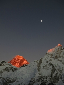Sunset over Mount Everest from Kala Patthar Nepal