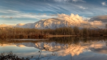 Sunset over Mt Si as seen from Snoqualmie WA