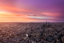 Sunset over Paris  by Faula Thierry x-post rFrancePics