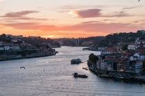 Sunset over Porto Portugal