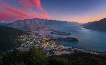 Sunset over Queenstown New Zealand  xpost from rNZPhotos