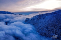 Sunset over Rattlesnake Ridge after the first snow of  North Bend WA  IG msrlpics
