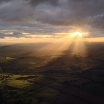 Sunset over Shropshire UK This is why I fly