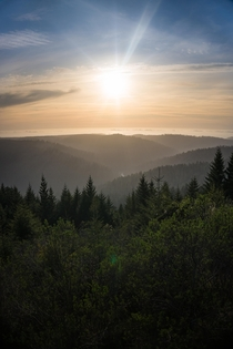Sunset over the Bald Hills in Humboldt County CA