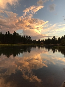 Sunset over the Deschutes River Oregon August