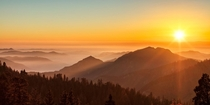 Sunset over the mountains Taken from Beetle Rock Sequoia National Park CA   x  px