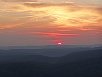 Sunset over the Ozark Mountains